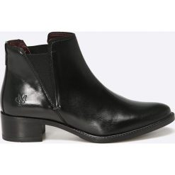Marc O'Polo - Botki. Czarne buty zimowe damskie Marc O'Polo, z materiału. W wyprzedaży za 359,90 zł.