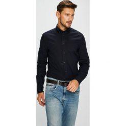 Calvin Klein - Koszula. Czarne koszule męskie na spinki marki Calvin Klein, m, z bawełny, button down, z długim rękawem. Za 269,90 zł.