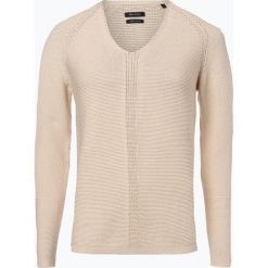 Marc O'Polo - Sweter damski, beżowy. Brązowe swetry klasyczne damskie Marc O'Polo, l, z bawełny, polo. Za 199,95 zł.