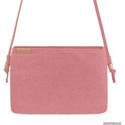 Kopertówki damskie: Nodo Bag S różowa mała kopertówka z paskiem
