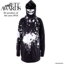Splash męska bluza z kapturem i wymienną maską. Czarne bluzy męskie rozpinane marki Pakamera, m, z dresówki, z kapturem. Za 359,00 zł.