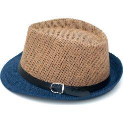 Kapelusz damski Kolorowy szyk brązowo niebieski. Brązowe kapelusze damskie Art of Polo, w kolorowe wzory. Za 28,94 zł.