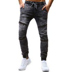 Joggery męskie: Joggery jeansowe męskie szare (ux1183)