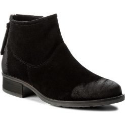 Botki FILIPE - 9801 Black. Czarne buty zimowe damskie Filipe, ze skóry, na obcasie. W wyprzedaży za 239,00 zł.