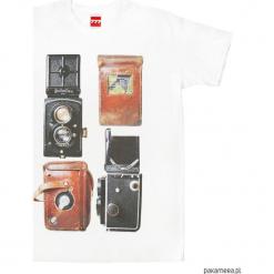 Koszulka APARAT ROLLEIFLEX tshirt. Czarne t-shirty męskie marki Pakamera, m, z kapturem. Za 77,00 zł.