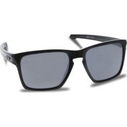 Okulary przeciwsłoneczne OAKLEY - Sliver Xl OO9341-05 Polished Black/Black Iridium. Czarne okulary przeciwsłoneczne męskie aviatory Oakley, z tworzywa sztucznego. W wyprzedaży za 449,00 zł.