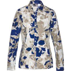 Bluzki damskie: Bluzka z nadrukiem bonprix niebieski