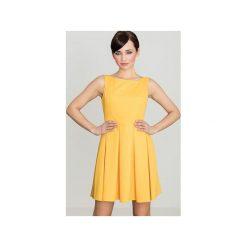 Sukienki: Sukienka K128 Żołty