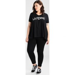 T-shirty damskie: ADIA VNECK 1/2 SLEEVES A SHAPE LA FEMME Tshirt z nadrukiem black