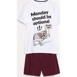 Piżama z szortami - Biały. Białe piżamy męskie Reserved, l. Za 59,99 zł.