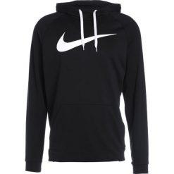 Nike Performance DRY SWOOSH HOODIE Bluza z kapturem black. Czarne bluzy męskie rozpinane Nike Performance, m, z materiału, z kapturem. Za 379,00 zł.