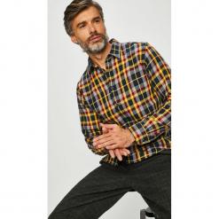 Tommy Hilfiger - Koszula. Szare koszule męskie na spinki TOMMY HILFIGER, l, w kratkę, z bawełny, z klasycznym kołnierzykiem, z długim rękawem. Za 449,90 zł.