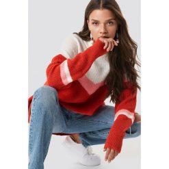 Trendyol Kolorowy sweter - Pink,Red,Multicolor. Szare swetry oversize damskie marki Vila, l, z bawełny, z okrągłym kołnierzem. Za 100,95 zł.