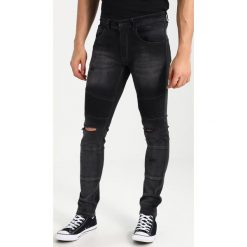 Redefined Rebel STOCKHOLM BIKER DESTROY Jeans Skinny Fit graphite. Szare jeansy męskie relaxed fit marki Redefined Rebel. Za 249,00 zł.