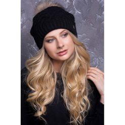 Czapki zimowe damskie: Czapka w kolorze czarnym