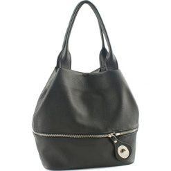 Torebki klasyczne damskie: Skórzana torebka w kolorze antracytowym – (G)19 cm