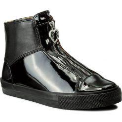 Botki LOVE MOSCHINO - JA15223G04JE000A Nero. Czarne buty zimowe damskie marki Love Moschino, z materiału. W wyprzedaży za 419,00 zł.