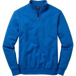 Bluza ze stójką Regular Fit bonprix lazurowy niebieski. Niebieskie bejsbolówki męskie bonprix, l. Za 69,99 zł.