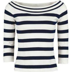 Dancing Days Stripe Sweter z dzianiny czarny/biały. Białe swetry klasyczne damskie Dancing Days, xl, z dzianiny, z dekoltem w łódkę. Za 144,90 zł.