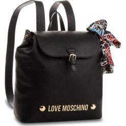 Plecak LOVE MOSCHINO - JC4123PP16LV0000  Nero. Czarne plecaki damskie Love Moschino, ze skóry, eleganckie. W wyprzedaży za 729,00 zł.