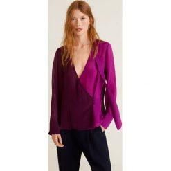 Mango - Bluzka Bicolor. Szare bluzki z odkrytymi ramionami marki Mango, l, z materiału. Za 139,90 zł.
