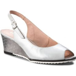 Sandały damskie: Sandały EKSBUT – 38-5053-K32/K75-1G Szary