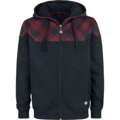 RED by EMP Mask Of Sanity Bluza z kapturem rozpinana czarny/czerwony. Czerwone bluzy męskie rozpinane marki KALENJI, m, z elastanu, z długim rękawem, długie. Za 164,90 zł.