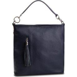 Torebka CREOLE - K10581 Granat. Niebieskie torebki klasyczne damskie Creole, ze skóry. W wyprzedaży za 189,00 zł.