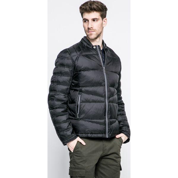 Trussardi Jeans - Kurtka. Czarne kurtki męskie jeansowe marki Trussardi Jeans, na obcasie. W wyprzedaży za 1099,00 zł.