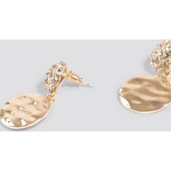 Kolczyki damskie: NA-KD Classic Okrągłe kolczyki ze zdobieniami – Gold