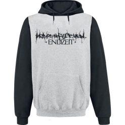 Bluzy męskie: Heaven Shall Burn Endzeit Block Bluza z kapturem szary/czarny