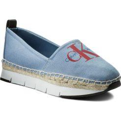 Espadryle CALVIN KLEIN JEANS - Genna R8950 Light Blue. Niebieskie espadryle damskie marki Calvin Klein Jeans, z jeansu, na płaskiej podeszwie. W wyprzedaży za 299,00 zł.