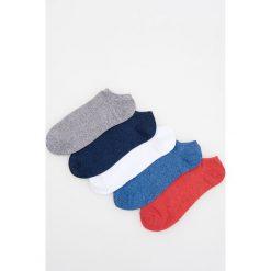 Kapcie męskie: 5 pack stopek – Niebieski