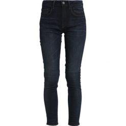 GStar DECONSTRUCTED SKINNY Jeans Skinny Fit darkblue denim. Niebieskie jeansy damskie relaxed fit marki G-Star, z bawełny. Za 469,00 zł.