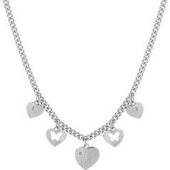 Naszyjniki damskie: Naszyjnik w kolorze srebrnym z zawieszkami – (D)45 cm