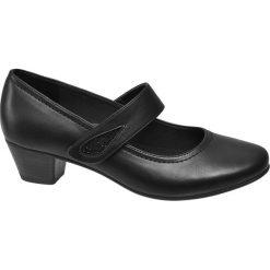 Czółenka damskie Easy Street czarne. Czarne buty ślubne damskie Easy Street, z materiału, na obcasie. Za 99,90 zł.
