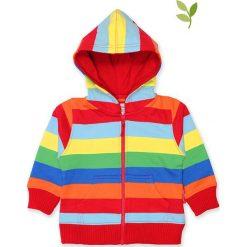 Bluza ze wzorem. Czerwone bluzy chłopięce rozpinane Toby Tiger, w paski, z bawełny. W wyprzedaży za 129,95 zł.