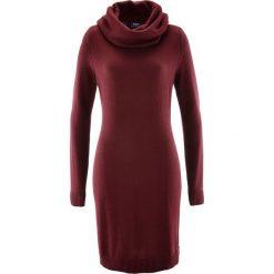 Sukienka dzianinowa z golfem bonprix czerwony klonowy. Czerwone sukienki dzianinowe marki bonprix, z golfem. Za 74,99 zł.