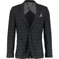 Marynarki męskie slim fit: Burton Menswear London OVERCHECK Marynarka grey