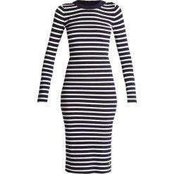 GStar EXLY STRIPE R DRESS KNIT L/S Sukienka dzianinowa osaka blue/off white. Szare sukienki dzianinowe marki G-Star. W wyprzedaży za 412,30 zł.
