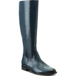 Oficerki GINO ROSSI - DKH589-G12-0B00-5700-M 59. Niebieskie buty zimowe damskie marki Gino Rossi, z polaru. W wyprzedaży za 399,00 zł.