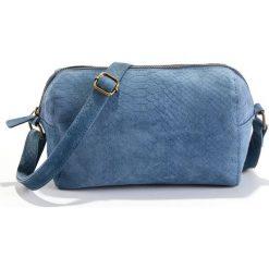 Torebka z wytłaczanej skóry. Czerwone shopper bag damskie La Redoute Collections, w paski, z bawełny. Za 214,58 zł.