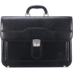 Teczka męska Paolo Peruzzi na laptopa 453B. Czarne aktówki męskie marki Pakamera, ze skóry. Za 189,00 zł.