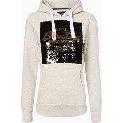 Superdry - Damska bluza nierozpinana, beżowy. Szare bluzy z kapturem damskie marki Superdry, l, z bawełny, proste. Za 349,95 zł.