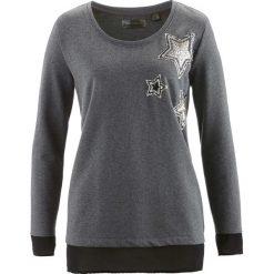 Bluzy damskie: Bluza bonprix antracytowy melanż