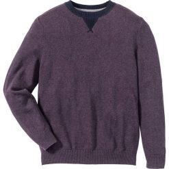 Swetry męskie: Sweter Regular Fit bonprix jeżynowy melanż