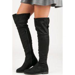 Buty zimowe damskie: Zamszowe muszkieterki JOCELYN