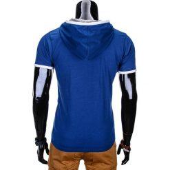 T-SHIRT MĘSKI Z KAPTUREM BEZ NADRUKU S682 - GRANATOWY. Czerwone t-shirty męskie z nadrukiem marki Cropp, l, z kapturem. Za 25,00 zł.