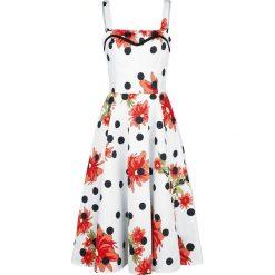 H&R London Daisy Polka Dot Dress Sukienka wielokolorowy. Szare sukienki na komunię H&R London, xl, z dekoltem na plecach. Za 194,90 zł.