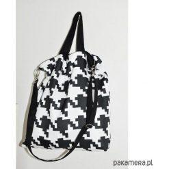 TORBA PIKSEL - PRINT PEPITKA, 2W1, DWUSTRONNA. Szare torebki klasyczne damskie Pakamera, z tkaniny. Za 129,00 zł.